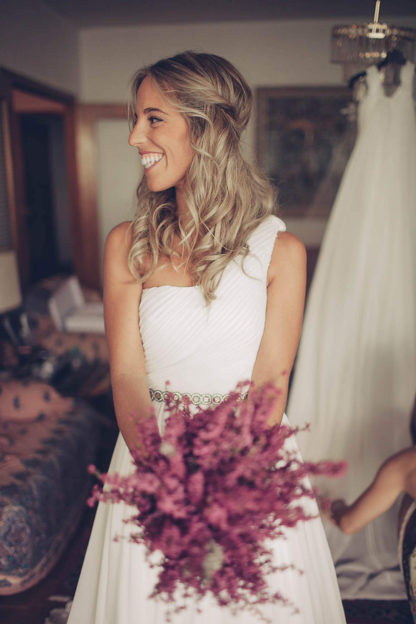 Detalle del pecho del vestido de novia