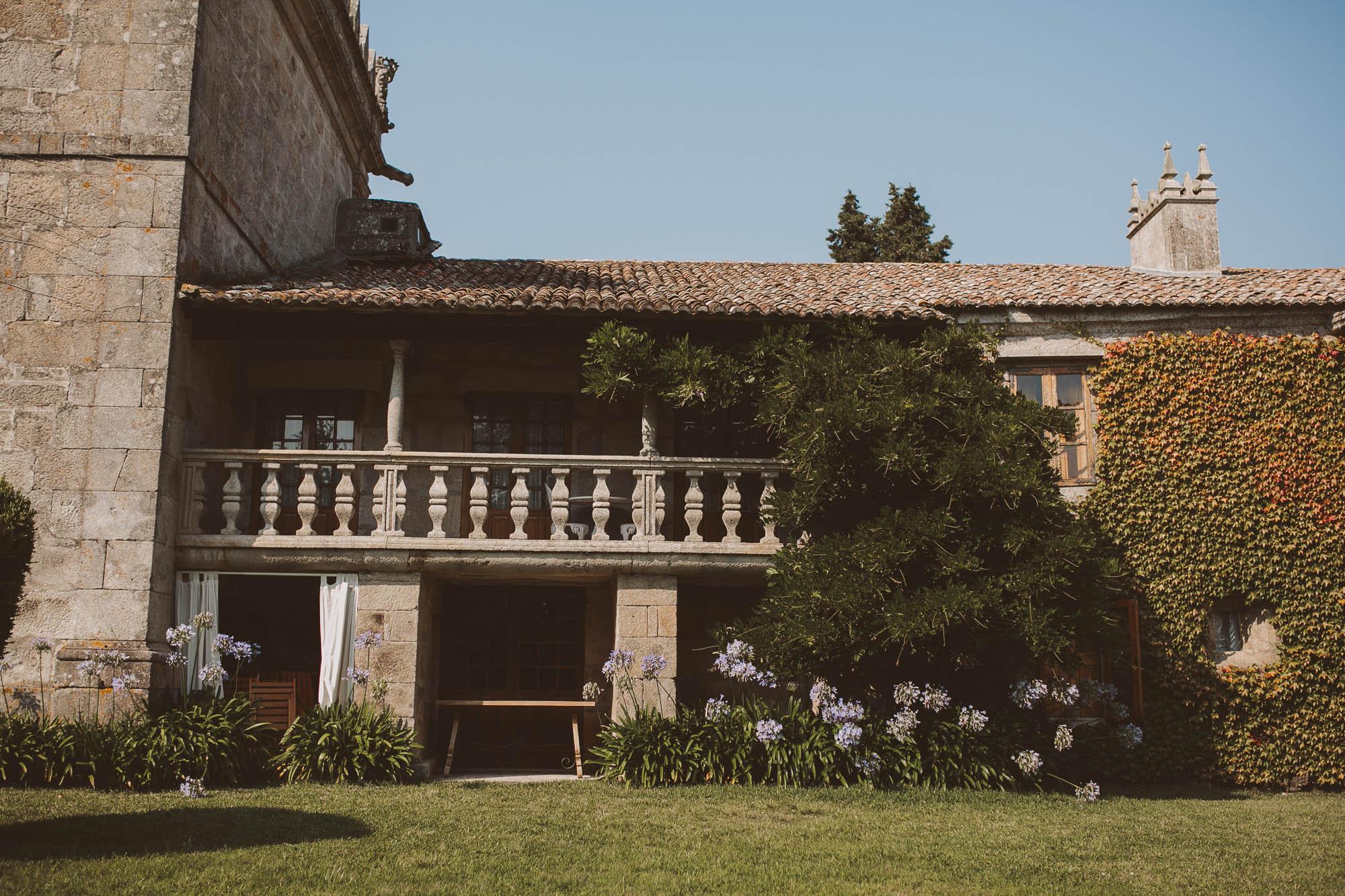 Casa rural de la finca para el día de la boda