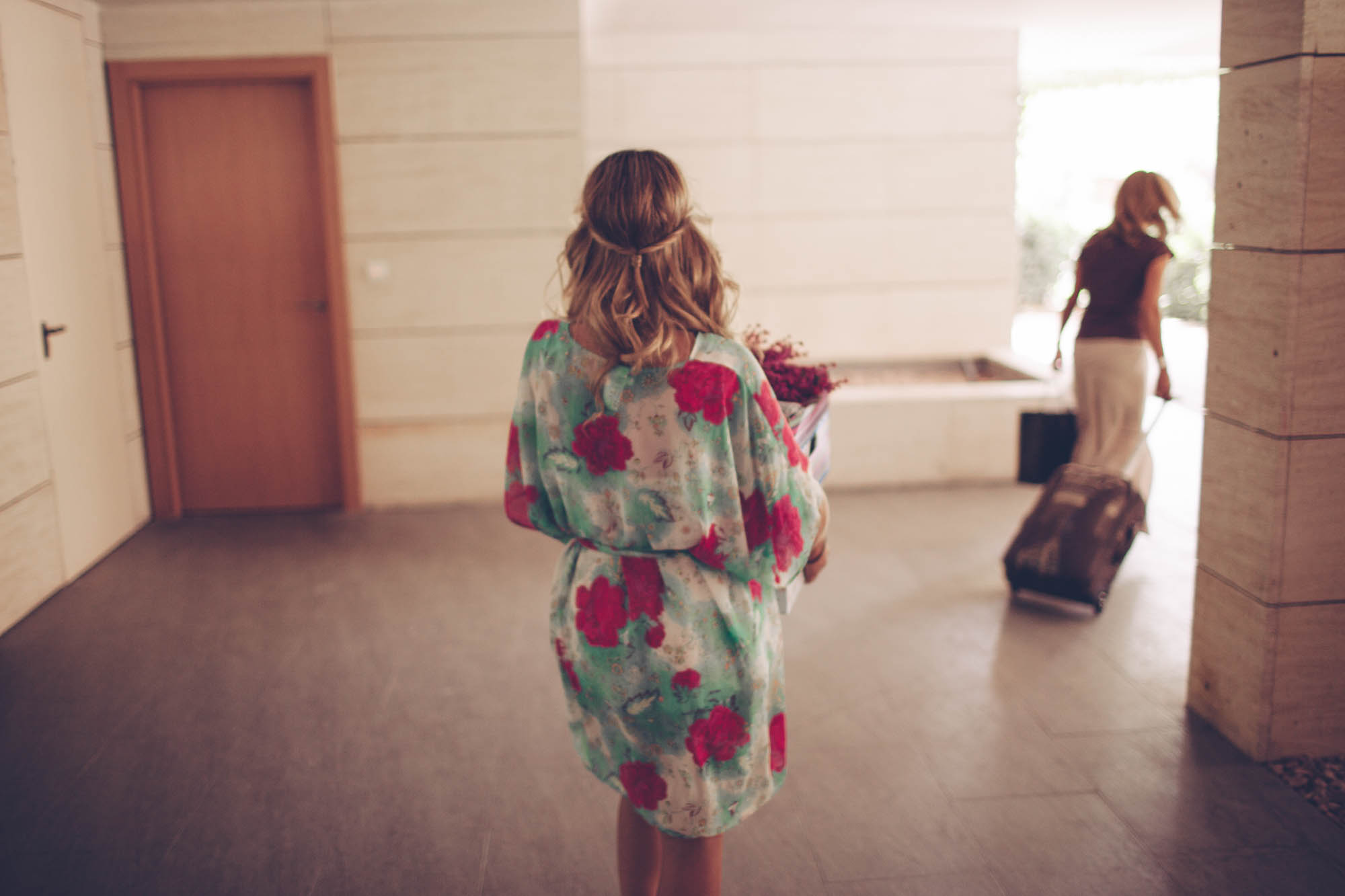 Novia de camino a sus preparativos