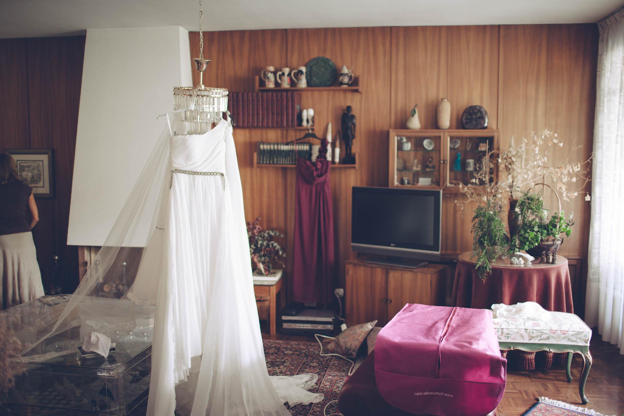Es vestido de la novia