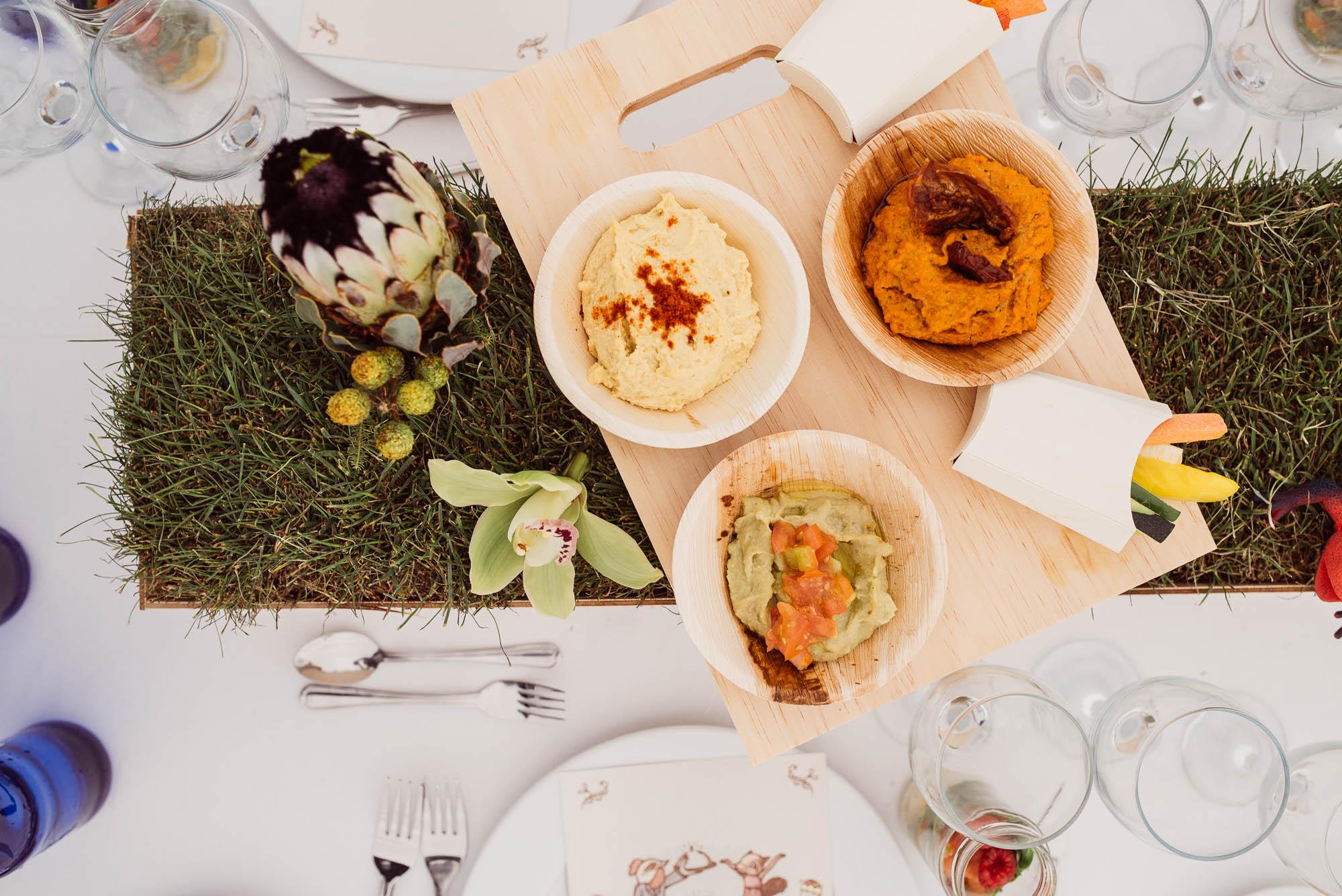 Entrantes de la comida de la boda