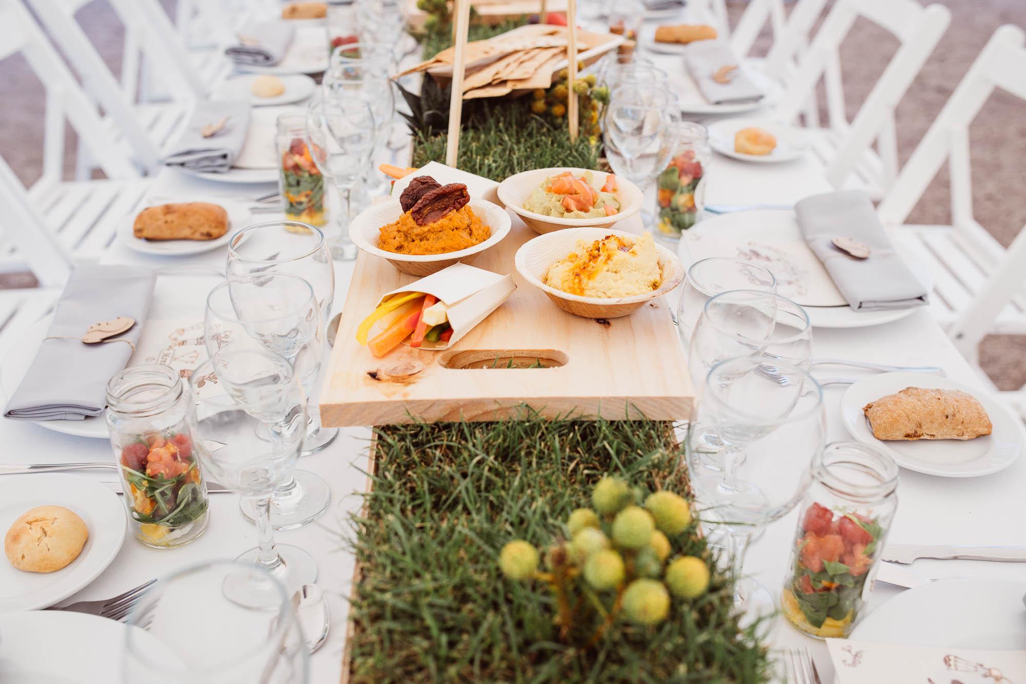 Decoración del comedor de la boda