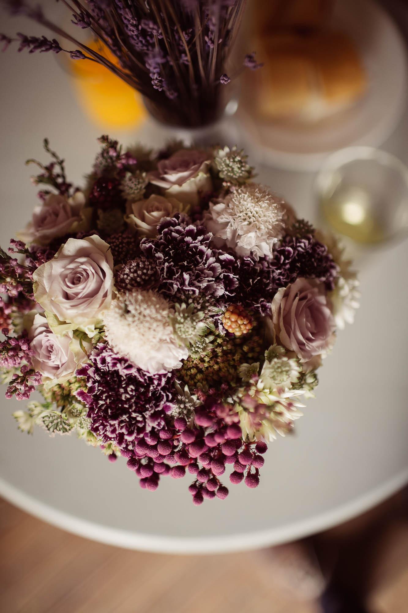 Ramo de flores de novia de color rosa